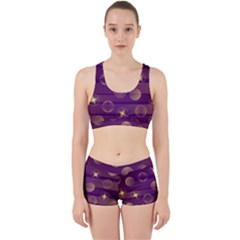 Background Purple Lines Decorative Work It Out Gym Set