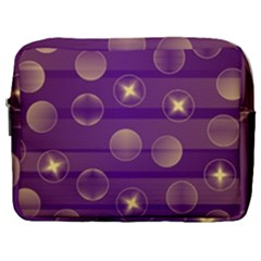Background Purple Lines Decorative Make Up Pouch (large)