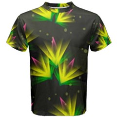 Background Floral Abstract Lines Men s Cotton Tee