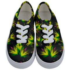 Background Floral Abstract Lines Kids  Classic Low Top Sneakers