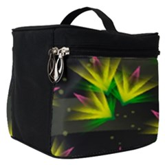 Background Floral Abstract Lines Make Up Travel Bag (small)