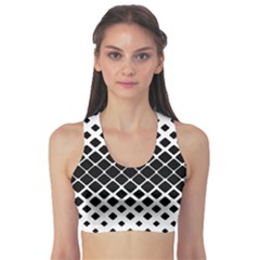 Square Rounded Diagonal Sports Bra