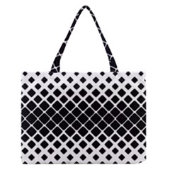 Square Rounded Diagonal Zipper Medium Tote Bag by AnjaniArt