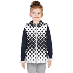 Square Rounded Diagonal Kids  Hooded Puffer Vest