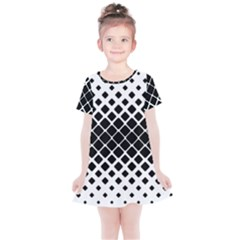 Square Rounded Diagonal Kids  Simple Cotton Dress