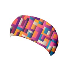Abstract Background Geometry Blocks Yoga Headband