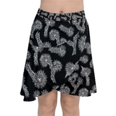 Joshua Tree Chiffon Wrap Front Skirt