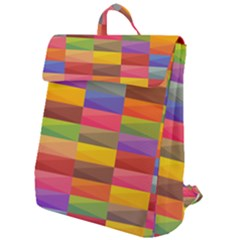 Abstract Background Geometric Flap Top Backpack by Mariart