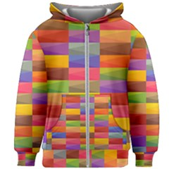 Abstract Background Geometric Kids  Zipper Hoodie Without Drawstring by Mariart