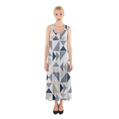 Geometric Sleeveless Maxi Dress
