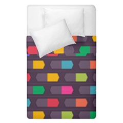 Background Colorful Geometric Duvet Cover Double Side (single Size)