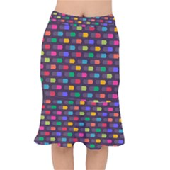 Background Colorful Geometric Mermaid Skirt