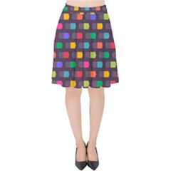 Background Colorful Geometric Velvet High Waist Skirt by HermanTelo