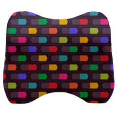 Background Colorful Geometric Velour Head Support Cushion