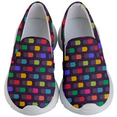 Background Colorful Geometric Kids  Lightweight Slip Ons by HermanTelo