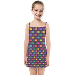 Background Colorful Geometric Kids  Summer Sun Dress by HermanTelo