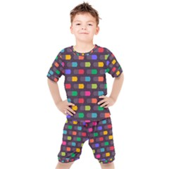 Background Colorful Geometric Kids  Tee And Shorts Set by HermanTelo