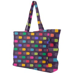 Background Colorful Geometric Simple Shoulder Bag