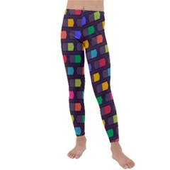 Background Colorful Geometric Kids  Lightweight Velour Leggings by HermanTelo