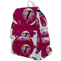Billiard Ball Ball Game Pink Top Flap Backpack