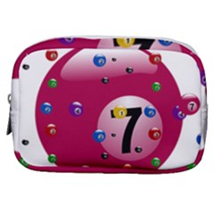 Billiard Ball Ball Game Pink Make Up Pouch (small)