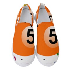 Billiard Ball Ball Game Pink Orange Women s Slip On Sneakers by HermanTelo
