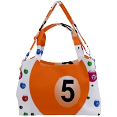 Billiard Ball Ball Game Pink Orange Double Compartment Shoulder Bag