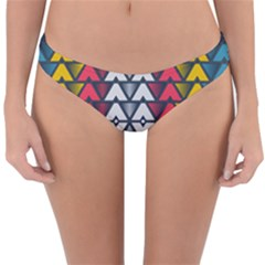 Background Colorful Geometric Unique Reversible Hipster Bikini Bottoms