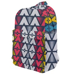 Background Colorful Geometric Unique Classic Backpack