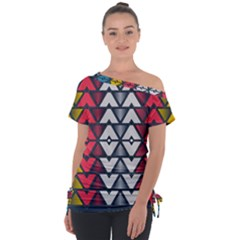 Background Colorful Geometric Unique Tie Up Tee by HermanTelo