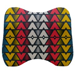 Background Colorful Geometric Unique Velour Head Support Cushion