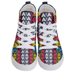 Background Colorful Geometric Unique Kids  Hi Top Skate Sneakers