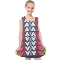 Background Colorful Geometric Unique Kids  Cross Back Dress by HermanTelo