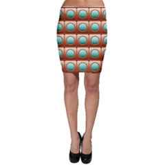 Abstract Circle Square Bodycon Skirt