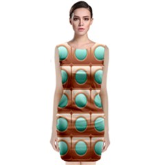 Abstract Circle Square Classic Sleeveless Midi Dress