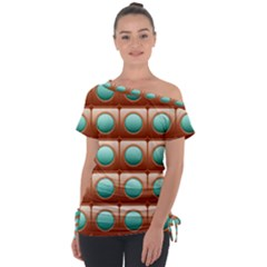 Abstract Circle Square Tie Up Tee by HermanTelo