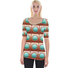 Abstract Circle Square Wide Neckline Tee
