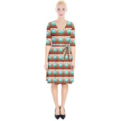 Abstract Circle Square Wrap Up Cocktail Dress