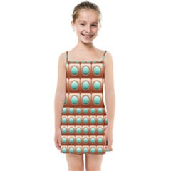 Abstract Circle Square Kids  Summer Sun Dress by HermanTelo
