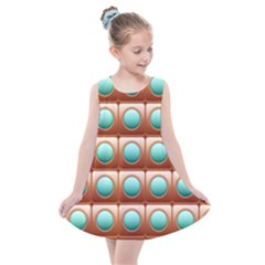 Abstract Circle Square Kids  Summer Dress by HermanTelo