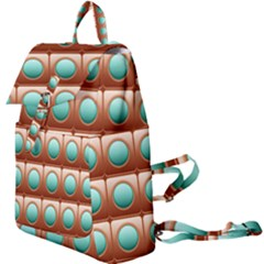 Abstract Circle Square Buckle Everyday Backpack