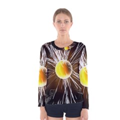 Abstract Exploding Design Women s Long Sleeve Tee by HermanTelo