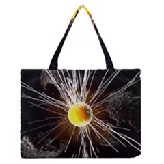 Abstract Exploding Design Zipper Medium Tote Bag by HermanTelo