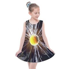 Abstract Exploding Design Kids  Summer Dress by HermanTelo