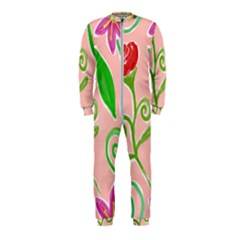 Background Colorful Floral Flowers Onepiece Jumpsuit (kids)