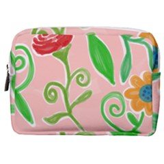 Background Colorful Floral Flowers Make Up Pouch (medium)