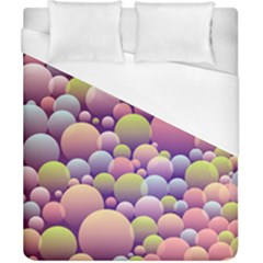 Abstract Background Circle Bubbles Duvet Cover (california King Size) by HermanTelo