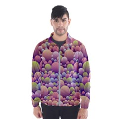 Abstract Background Circle Bubbles Men s Windbreaker