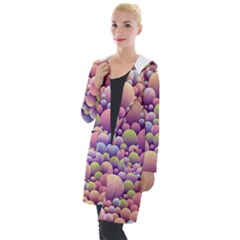 Abstract Background Circle Bubbles Hooded Pocket Cardigan by HermanTelo