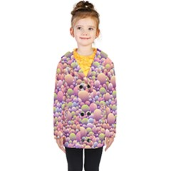 Abstract Background Circle Bubbles Kids  Double Breasted Button Coat